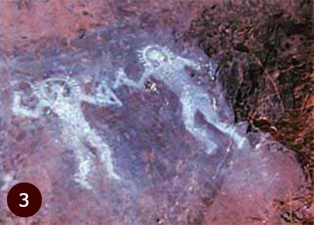 10,000 year old alien cave painting from Val Camonica, Italy.