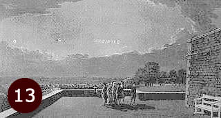1783 sketch by Thomas and Paul Sandby of 4 people at Windsor Castle watching a UFO.
